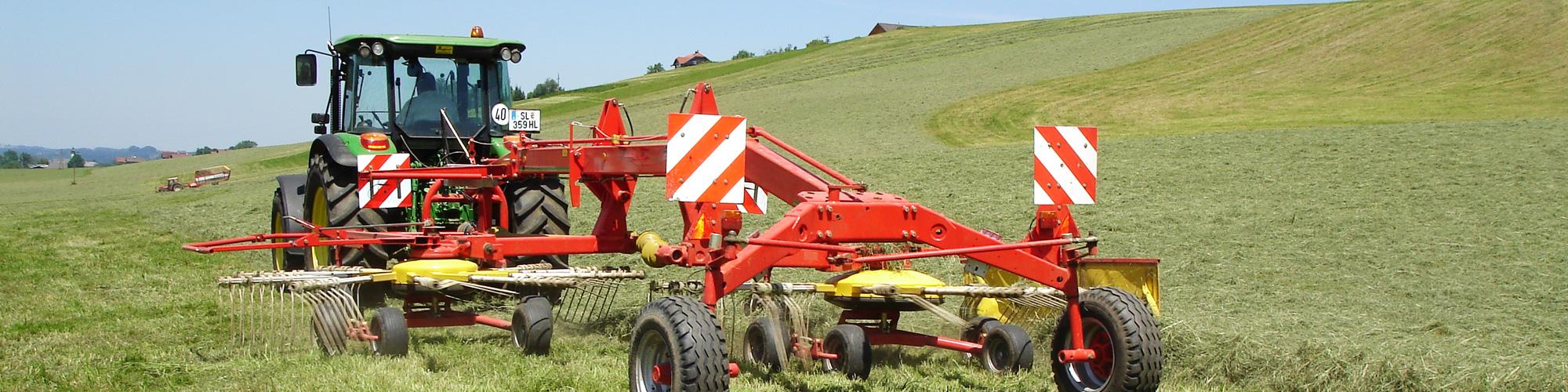 Agrardienstleistungen Heuernte vom Maschinenring