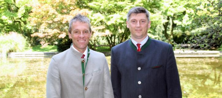 Die frischgewählte Bundesspitze der österreichischen Maschinenringe (v.l.): Johann Bösendorfer (Bundesobmann) und Gerhard Rieß (Stv. Bundesobmann)