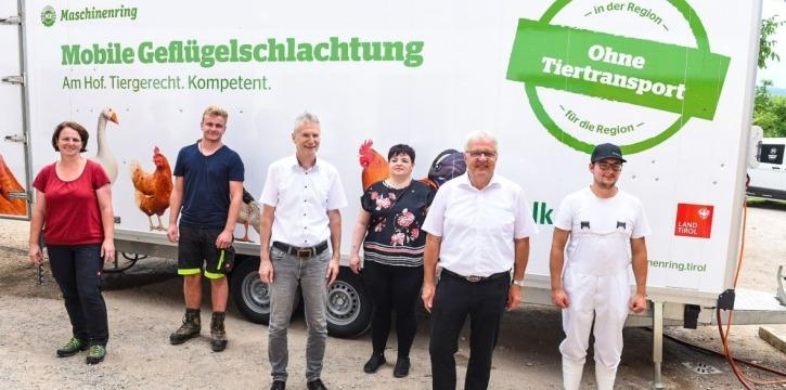 Mobile Geflügelschlachtung Maschinenring Tirol