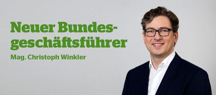 Mag. Christoph Winkler, der neue Bundesgeschäftsführer der österreichischen Maschinenringe