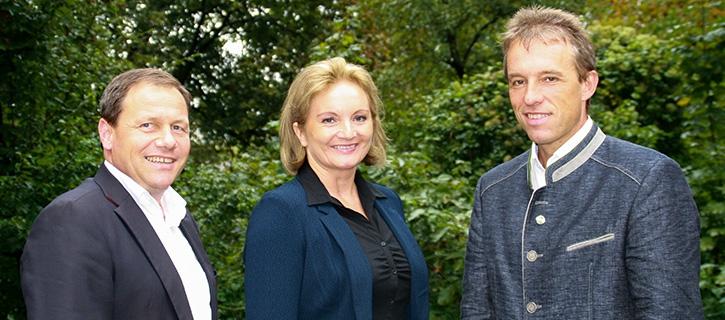 Thomas Ließ (Vorstandsvorsitzender MRPS), Mag. Gertraud Weigl (Geschäftsführerin MRPS), Johann Bösendorfer (Bundesobmann MRÖ)