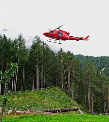 Forstservice Tirol - Hubschrauber Holzbringung