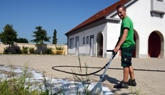 Ökologische Unkrautbekämpfung vom Maschinenring Niederösterreich-Wien
