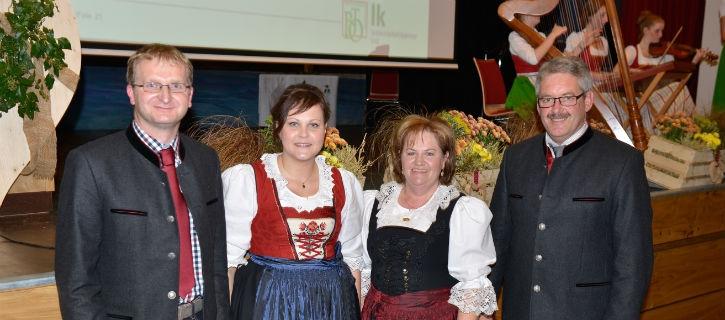 Obmann und Geschäftsführer Maschinenring Kufstein mit Bezirksäuerin Margreth Osl