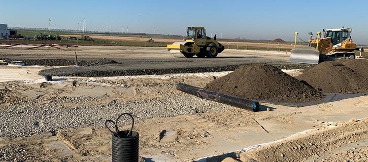 Bau des neuen Bürostandortes