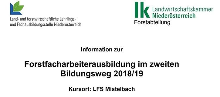 Forstfacharbeiterkurs LFS Mistelbach