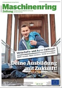 Maschinenring Ausbildung zur Wirtschafts- und Agrar Fachkraft: Titelseite Zeitung (2017)