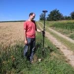 Agrarflächenfeststellung Smartantenne im Feld