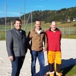 Amtsleiter Gerald Lerchner mit Maschinenring-Kundenbetreuer Bernhard Kaml