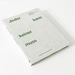 """Buchcover """"Jeder kann - keiner muss"""""""