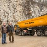 Deisl Beton am Standort in Hallein, hier mit Prokurist Mag. Dirisamer und Maschinenring-Kundenbetreuer Andreas Waldmann.