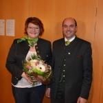 Katharina Buchebner und Obmann Erich Adelsberger