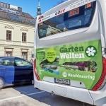 Im März und April sind Busse im Maschinenring-Design GartenWelten unterwegs!