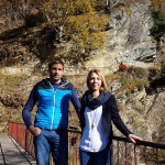 Markus Fötschl vom MR-Büro Tamsweg und Barbara Santner vom TVB Lungau auf der Felsenpromenade.