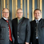 Landesobmann Hannes Haas und Geschäftsführer Maschinenring Tirol Hermann Gahr und Hannes Ziegler