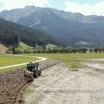 Rekultivierungsmaßnahmen nach dem Hochwasser im Oberpinzgau