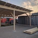 Lagerplatz und Carportbau